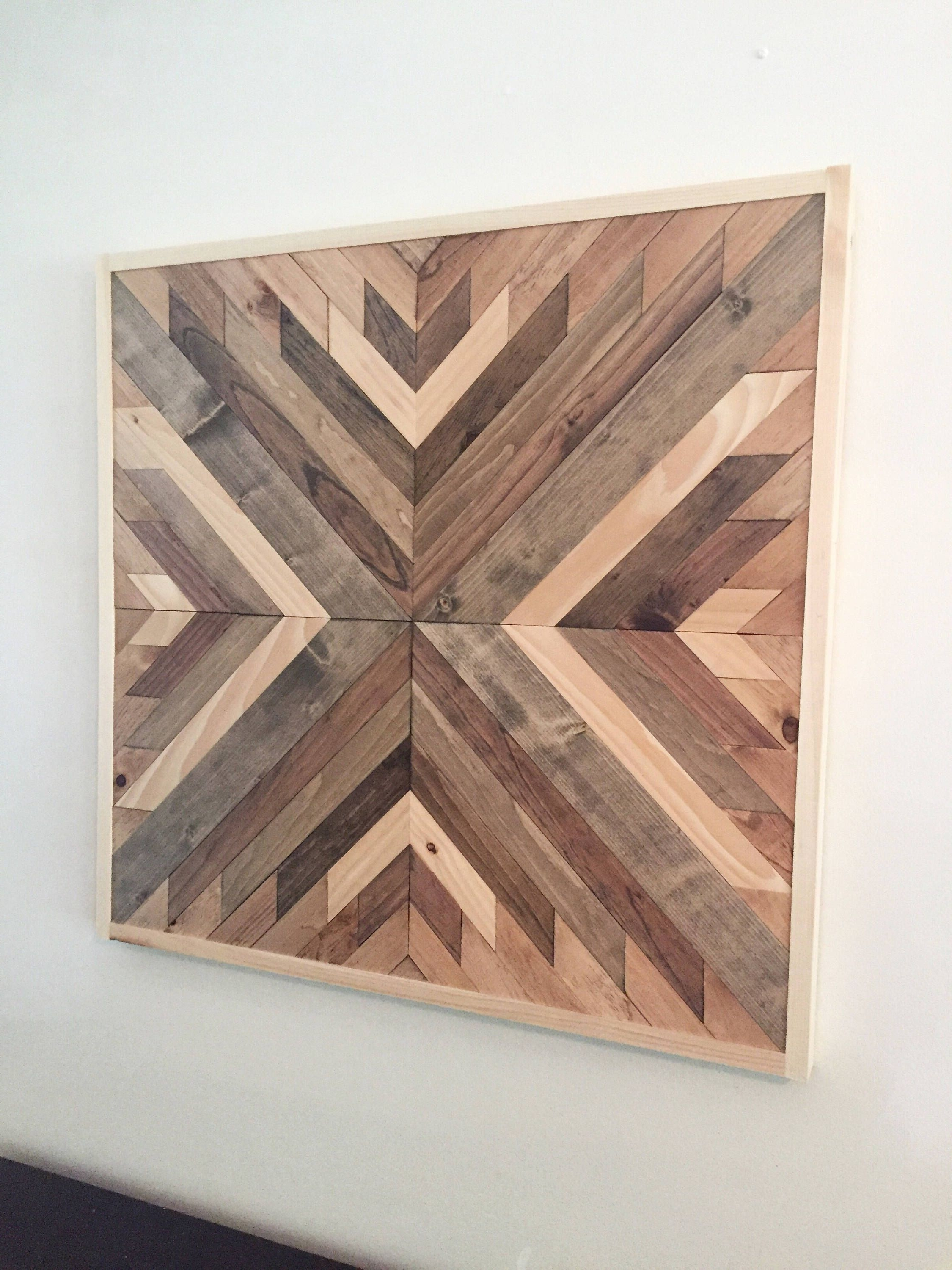 Reclaimed Wood Wall Art Regarding 2017 Reclaimed Wood Wall Art, Wood Wall Decor, Farmhouse Decor, Rustic (View 9 of 15)