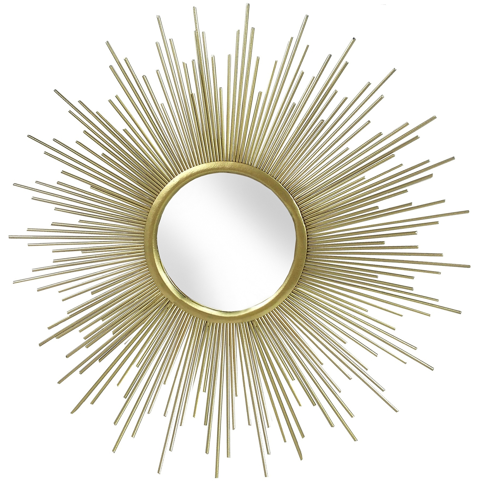 Rising Sun Gold Metal Wall Art Mirror – Casanad Pertaining To Best And Newest Gold Metal Wall Art (View 11 of 15)