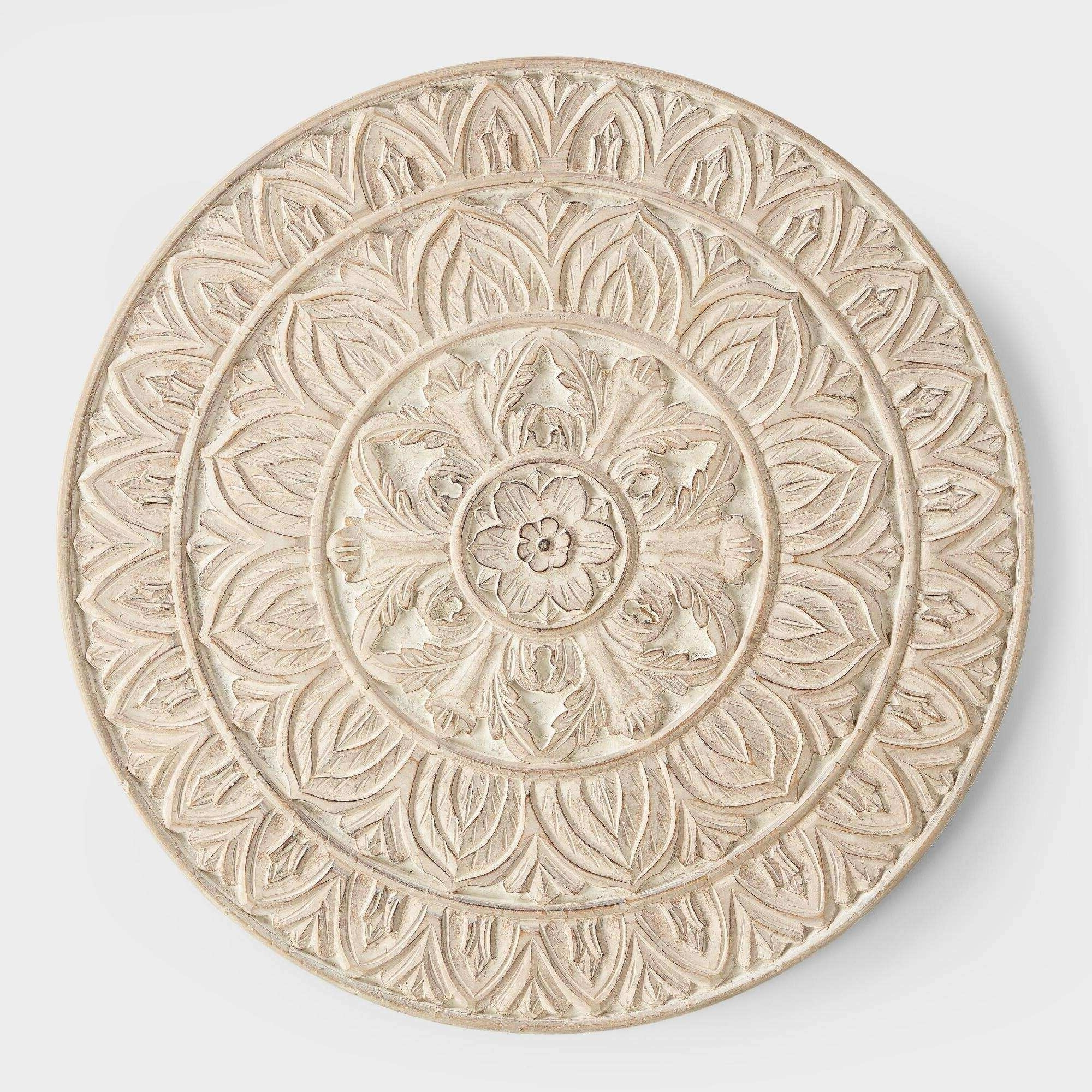 Round Wood Wall Art For Most Up To Date Round Wood Wall Art Best Of Whitewashed Round Wood Shaila Wall Decor (View 9 of 15)