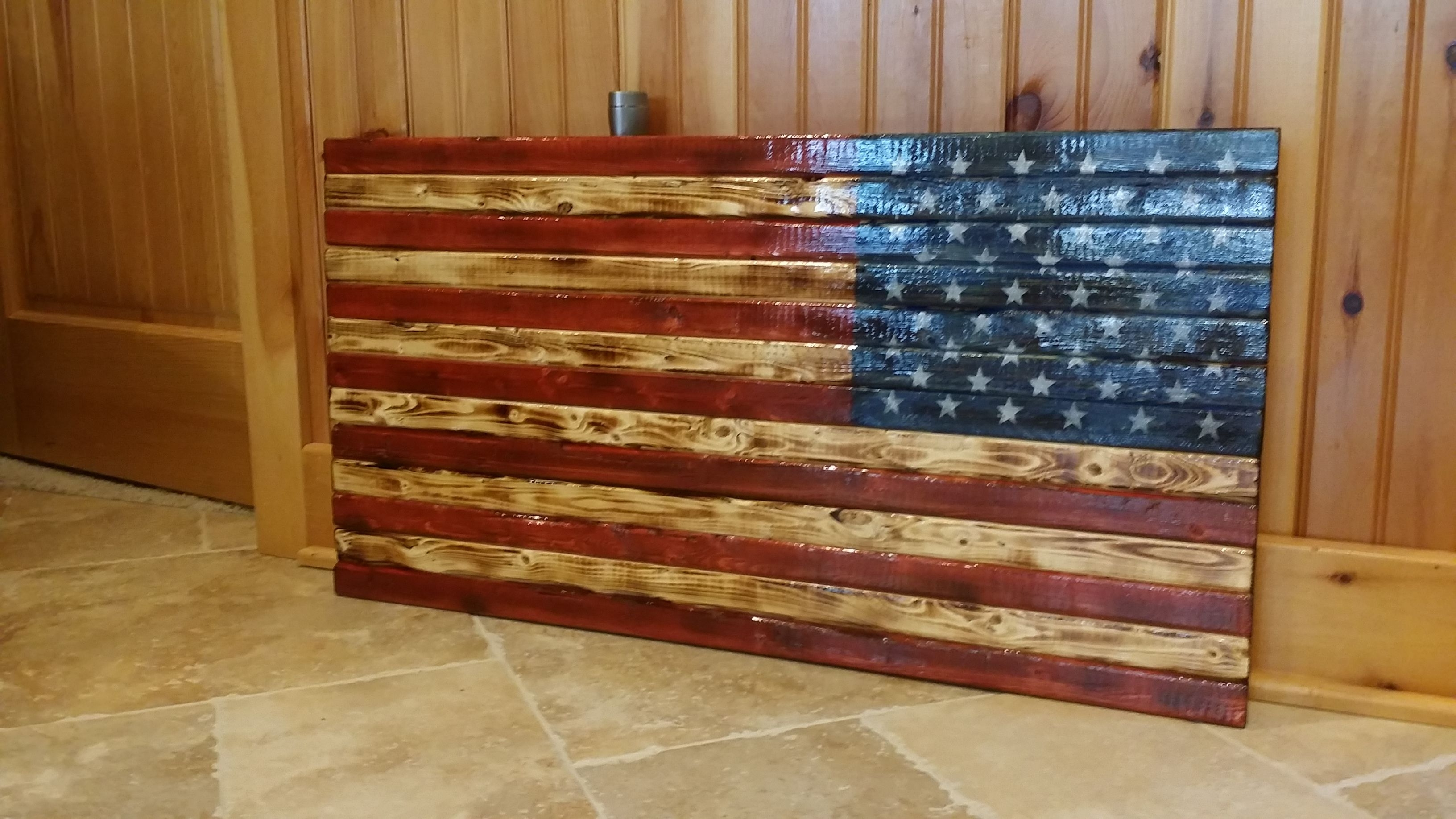 Rustic American Flag Wooden Wall Art (View 19 of 20)