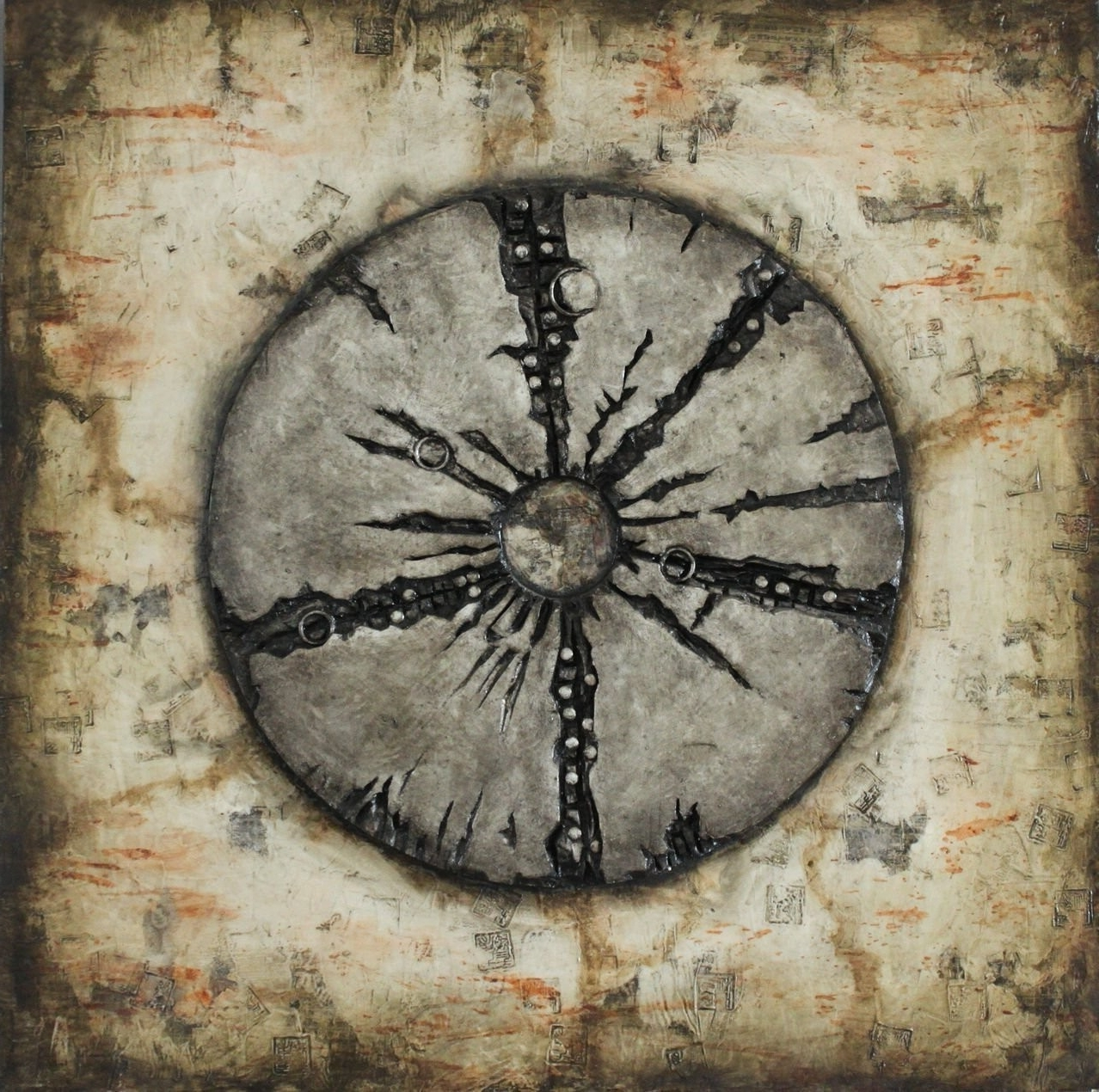 Rustic Metal Wall Art Intended For Most Up To Date Square Rustic Wood Wall Art – 3D Wheel Design – Metal Wall Art (View 12 of 20)