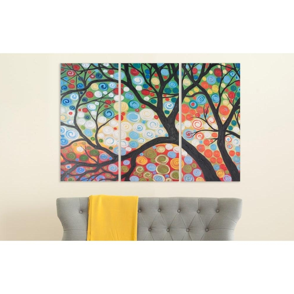 "Safavieh 36 In. X 18 In. ""cherry Blossom"" Wall Art Art2030A – The With Regard To Well Known Cherry Blossom Wall Art (Gallery 8 of 20)"