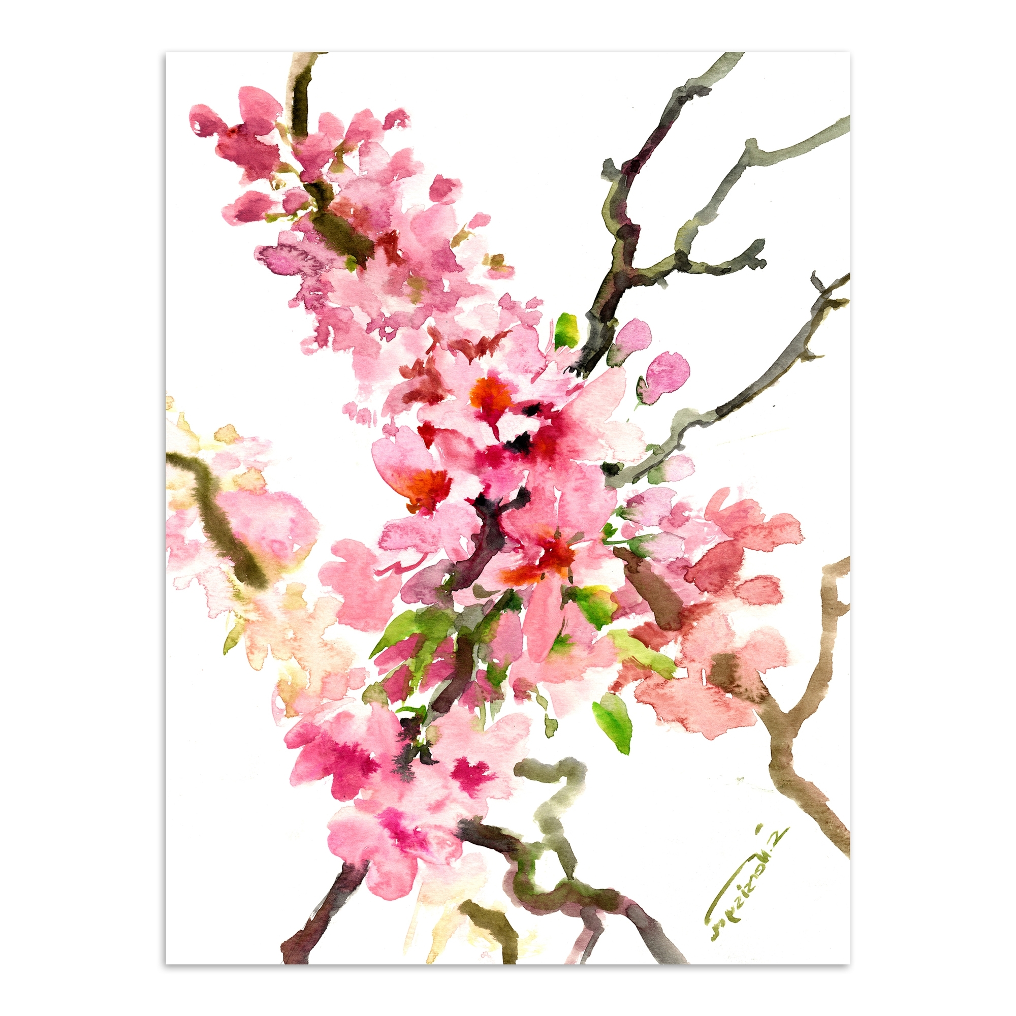 Sakura Cherry Blossom 2 Printed Wall Art (Gallery 13 of 20)