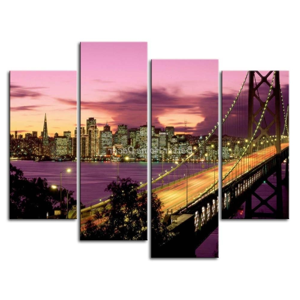 San Francisco Wall Art Inside Well Known San Francisco Wall Art Nice Designs 3 Piece Painting – Mycraftingbox (View 11 of 20)