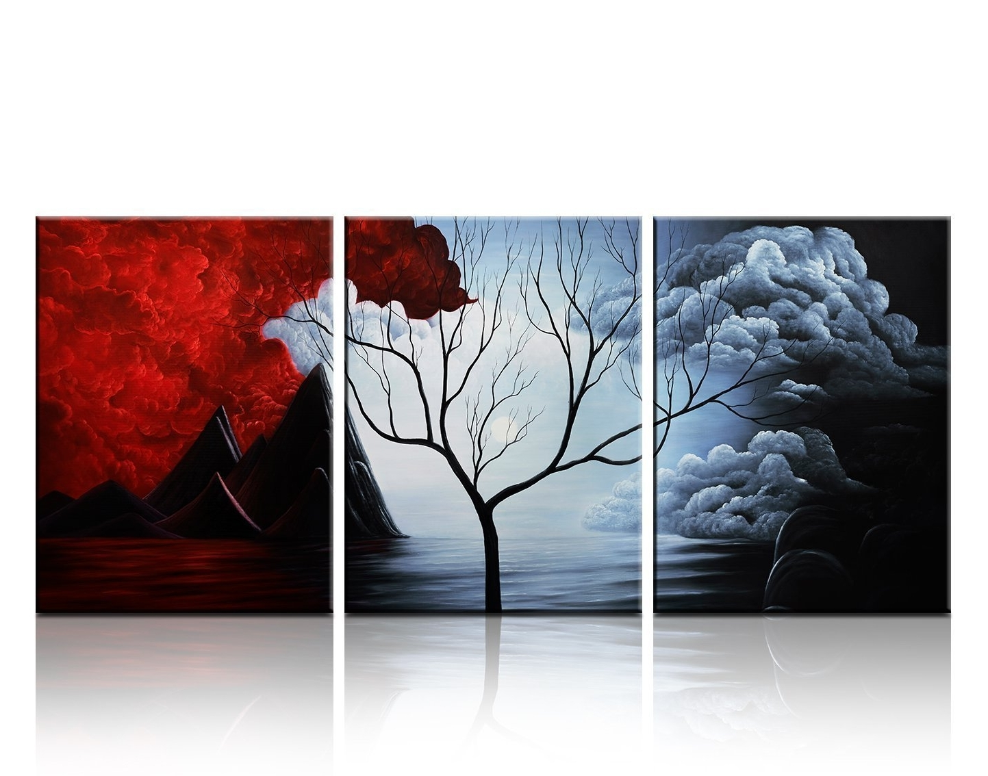 Santin Art  Modern Abstract Painting The Cloud Tree High Q (View 15 of 20)