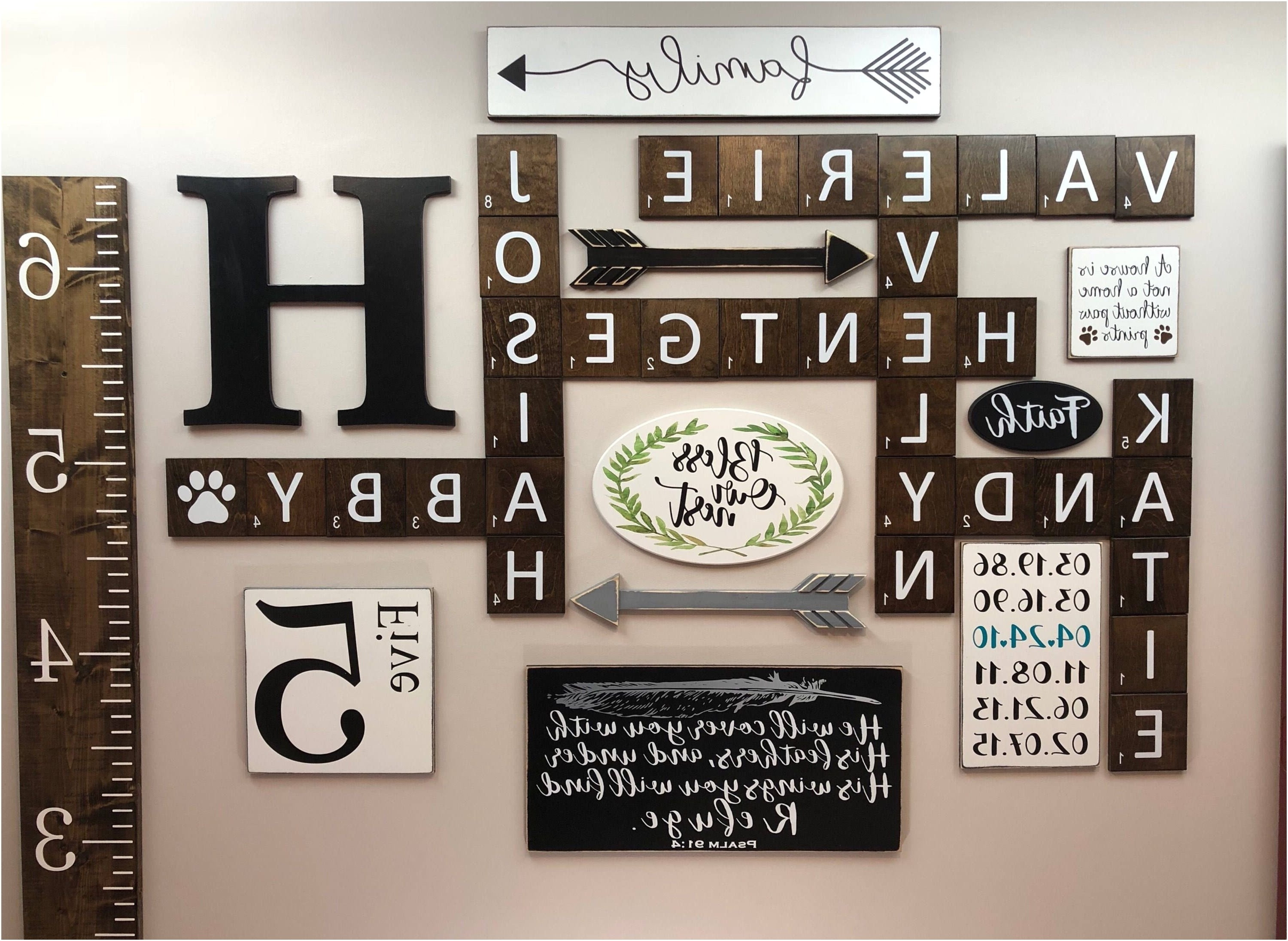Scrabble Wall Art In Most Recently Released Wooden Initial Letters Wall Beautiful 36 Luxury Family Scrabble Wall (View 14 of 20)
