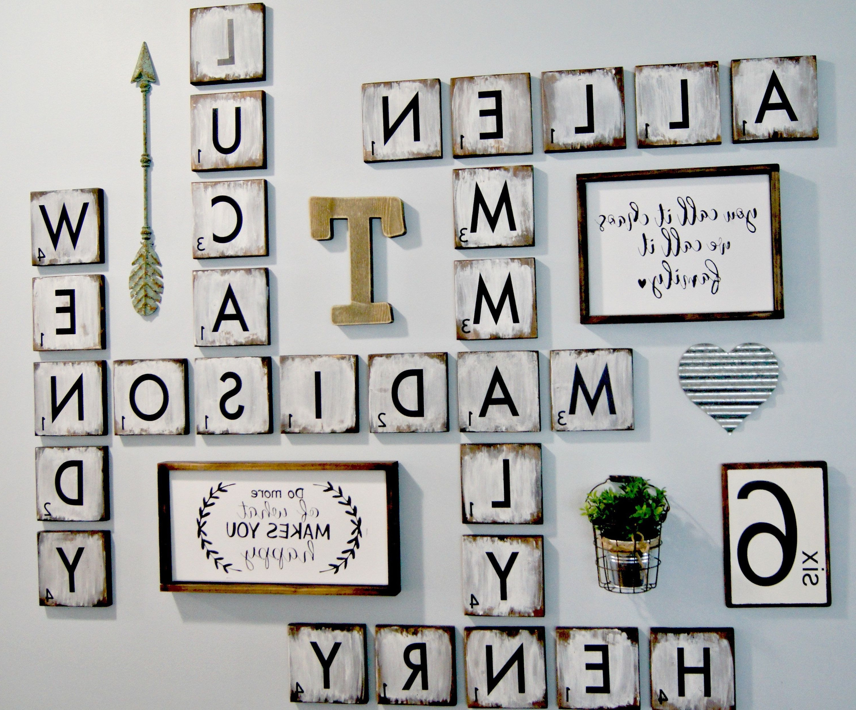 Scrabble Wall Art Throughout Preferred Scrabble Letters Wall Decor Diy Pinterest Design Of Family Scrabble (View 15 of 20)