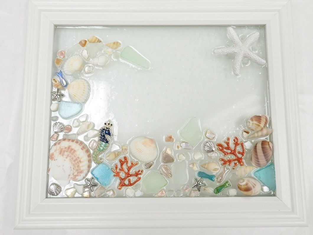Sea Glass Wall Art Intended For Most Current Sea Glass Wall Art Class – Virginia Beach Beads (Gallery 1 of 15)