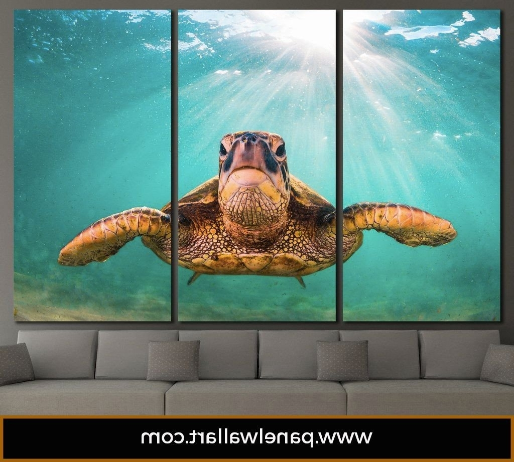 Sea Turtle Canvas Wall Art In Best And Newest Sea Turtle (View 13 of 20)