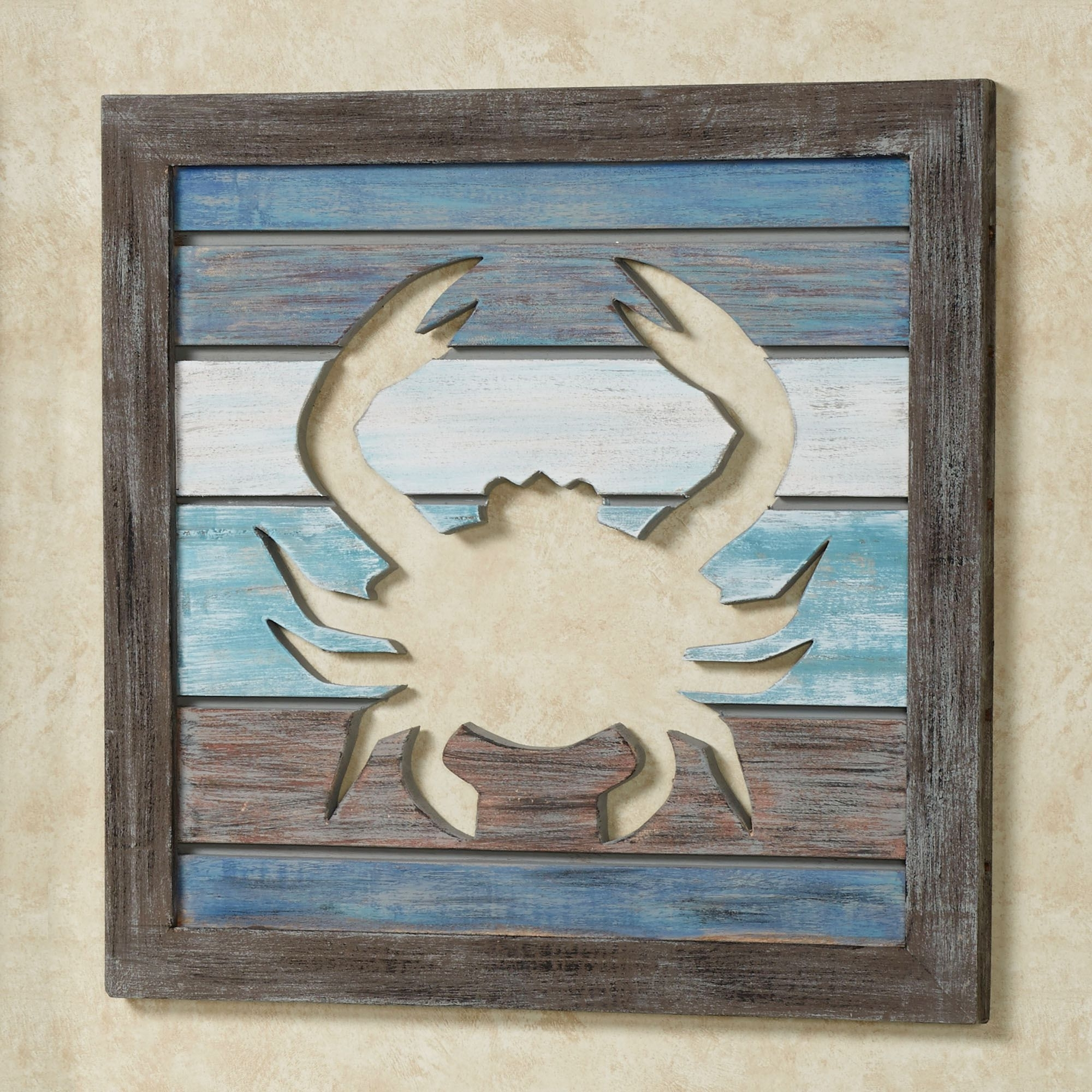 Sealife Cutout Slat Indoor Outdoor Coastal Wall Art Regarding Most Up To Date Sea Life Wall Art (Gallery 15 of 15)