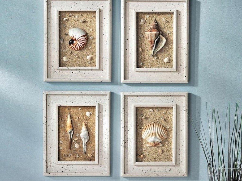 Seashell Wall Art Fresh Ideas Diy Nautical Wall Decor – Bsparker In Most Recent Nautical Wall Art (View 14 of 15)