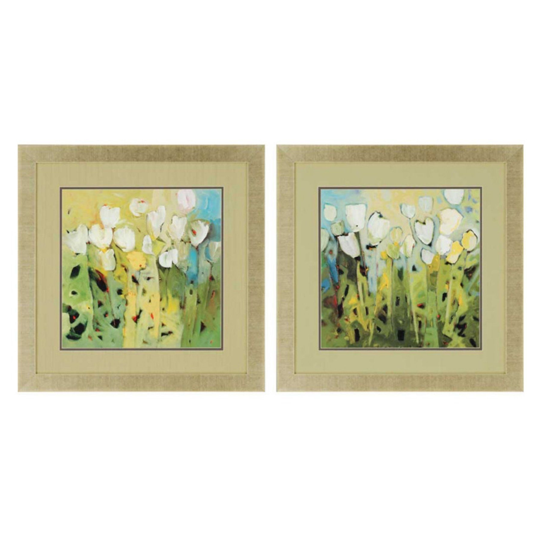Set Of 2 Framed Wall Art In Most Recently Released Paragon Decor White Tulips Framed Wall Art – Set Of 2 – 3350 (Gallery 6 of 20)