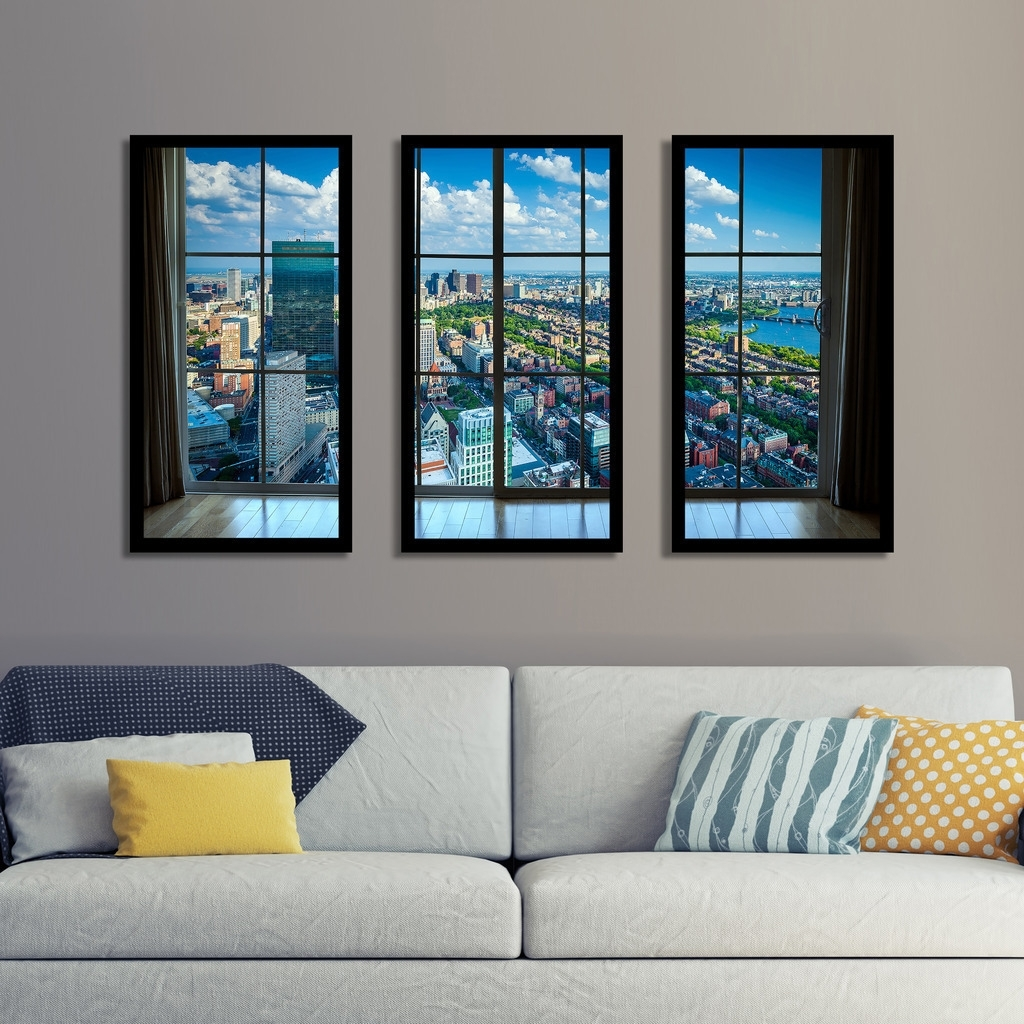 Shop Back Bay, In Boston, Massachusetts Window' Framed Plexiglass Inside 2018 Boston Wall Art (View 9 of 20)
