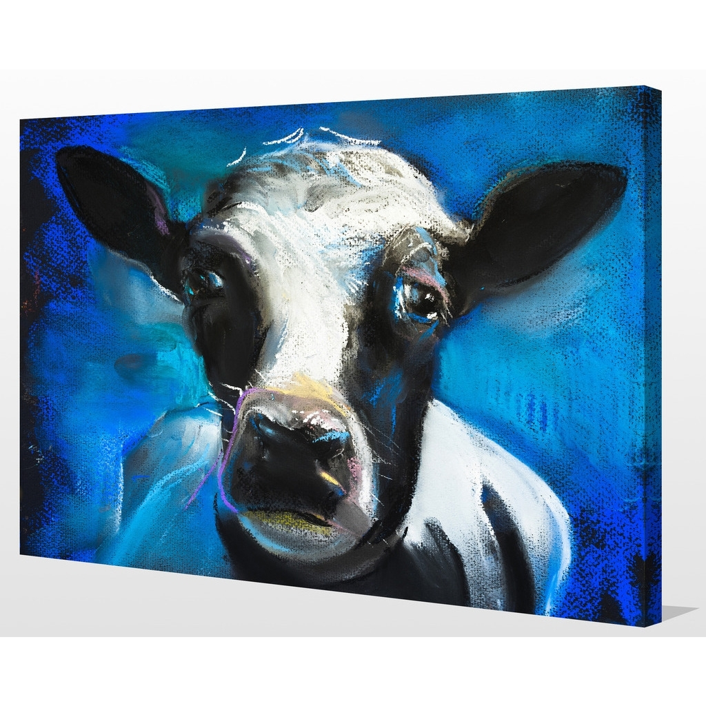 "Shop ""cow Face"" Giclee Print Canvas Wall Art – On Sale – Free Intended For Newest Cow Canvas Wall Art (View 15 of 20)"