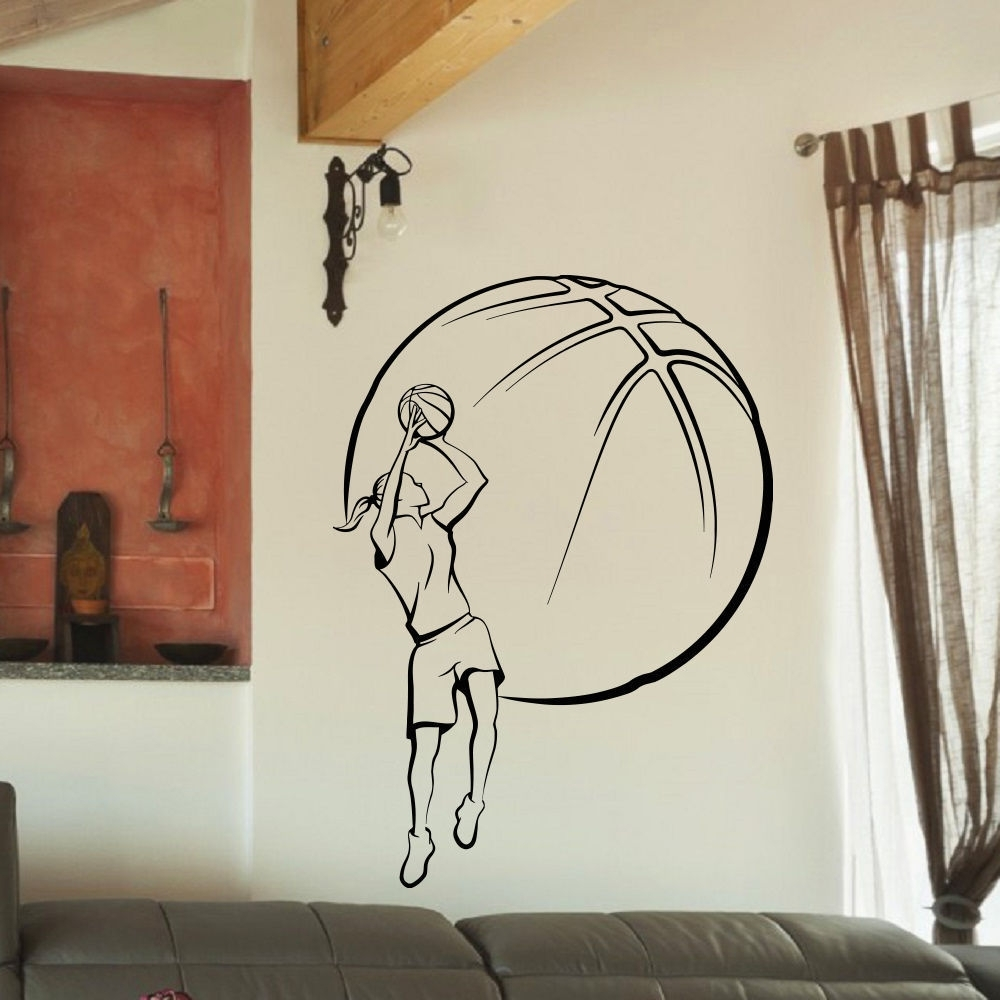 Shop Girl Basketball Vinyl Wall Art Decal Sticker – Free Shipping On Pertaining To Well Known Basketball Wall Art (Gallery 15 of 15)