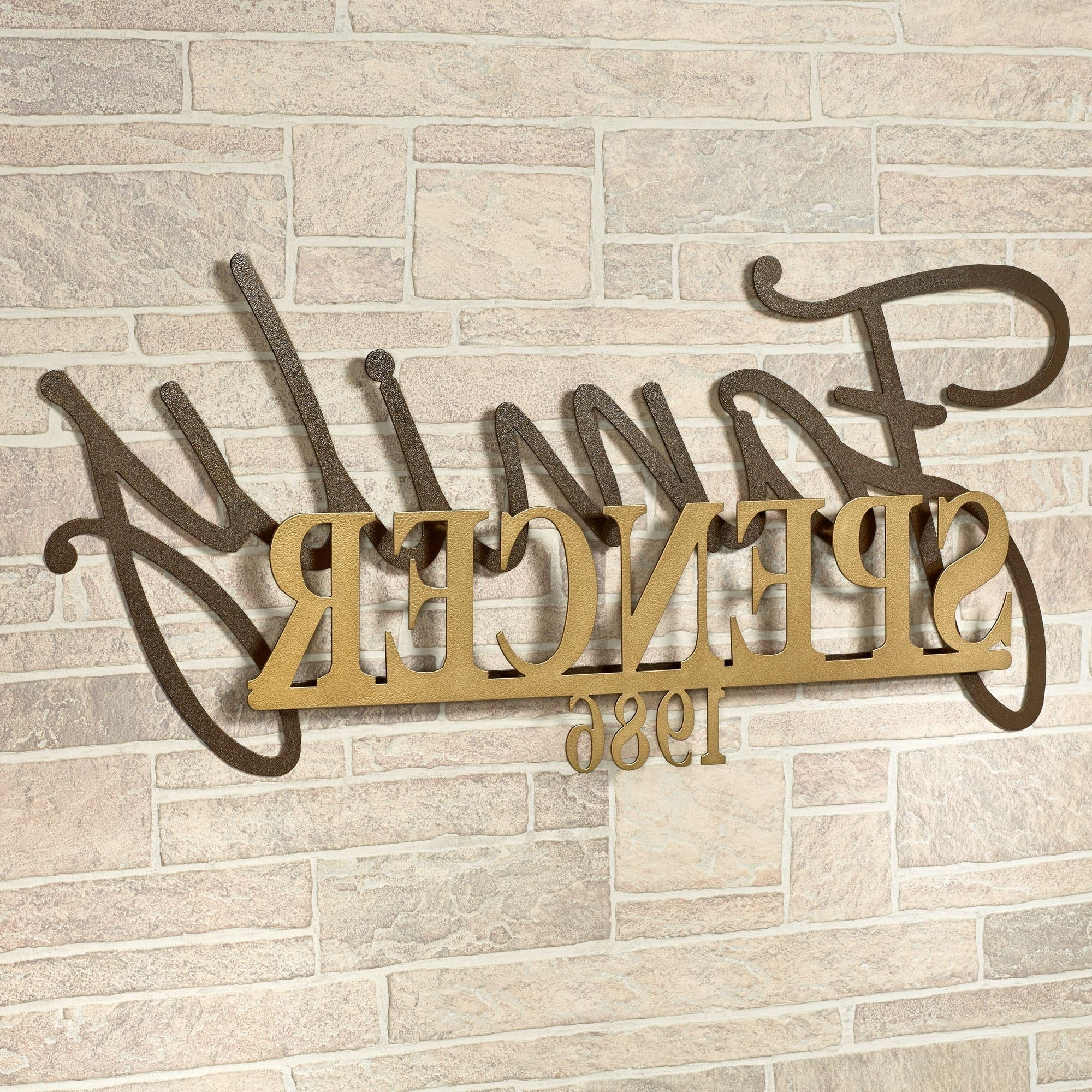 Signature Established Year Personalized Metal Wall Art Sign Throughout Latest Family Metal Wall Art (View 14 of 15)