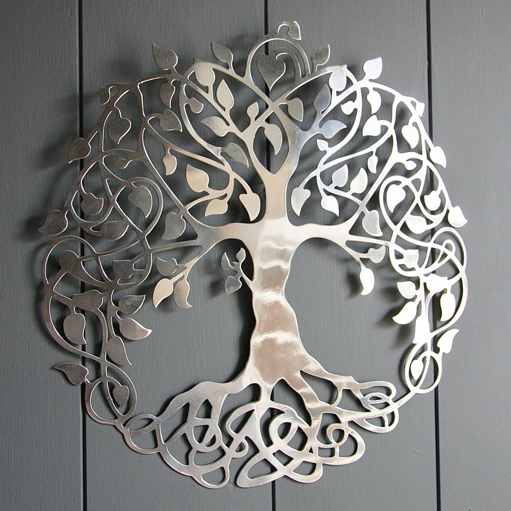 Silver Tree Of Life Wall Artlondon Garden Trading In Popular Silver Wall Art (View 12 of 20)