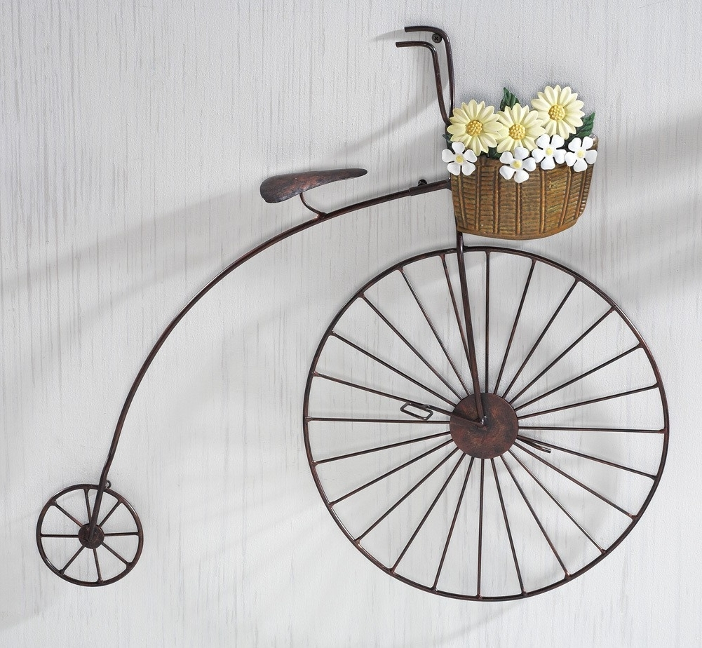 Simple Metal Bicycle Wall Art : Andrews Living Arts – Homemade Metal With Well Liked Bicycle Wall Art (View 18 of 20)