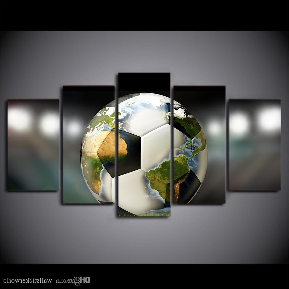 Soccer Wall Art Inside Trendy 2018 Hd Prints Canvas Wall Art Pictures Soccer Football World Map (View 5 of 20)