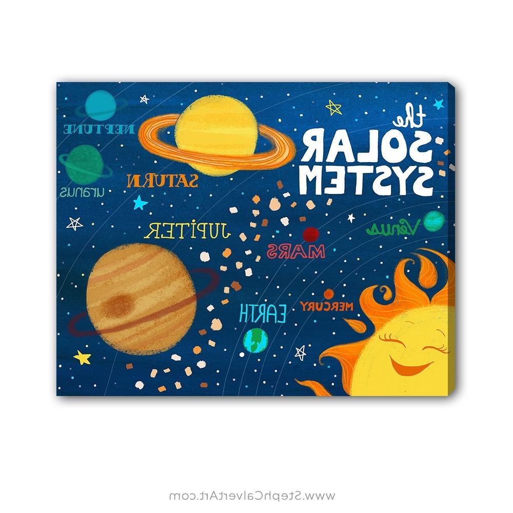 Solar System Wall Art – Steph Calvert Art In Popular Kids Wall Art (View 12 of 15)