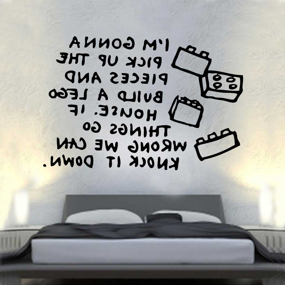 Song Lyric Wall Art With Popular Song Lerics Vinyl Wall Art » _Shop » Home (Gallery 9 of 20)