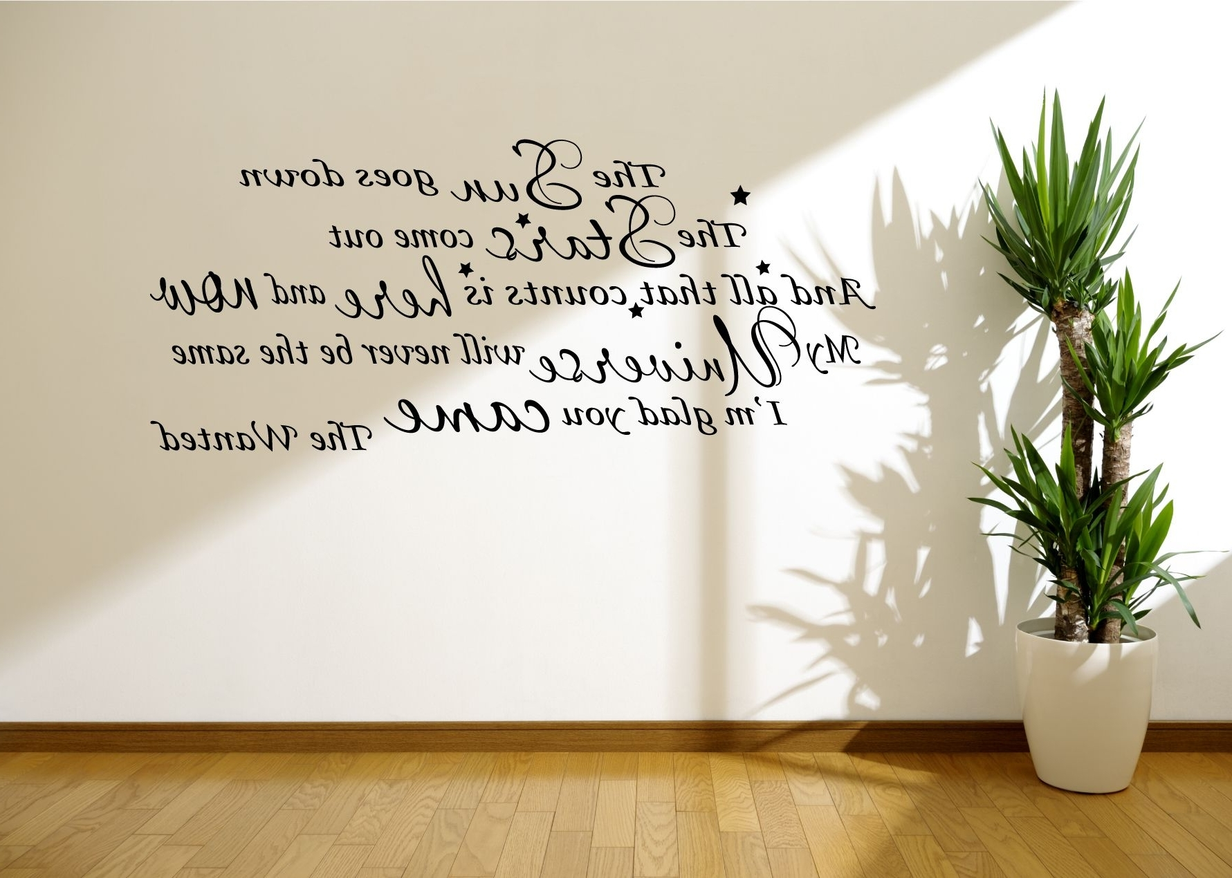 Song Lyric Wall Art – Www (View 15 of 20)