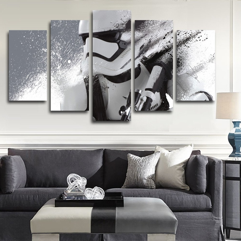Star Wars Wall Art Regarding Most Up To Date Modern Ixxi Star Wars Stormtrooper Darth Vader Wall Art Star Wars (View 11 of 15)