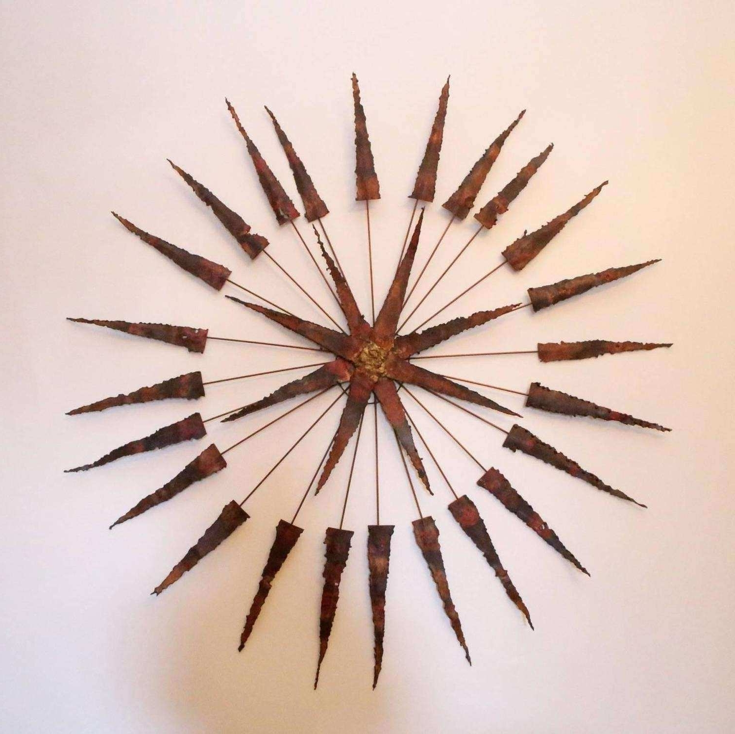 Starburst Wall Art With Popular Starburst Wall Art Awesome Starburst Metal Wall Sculpture For Sale (View 18 of 20)