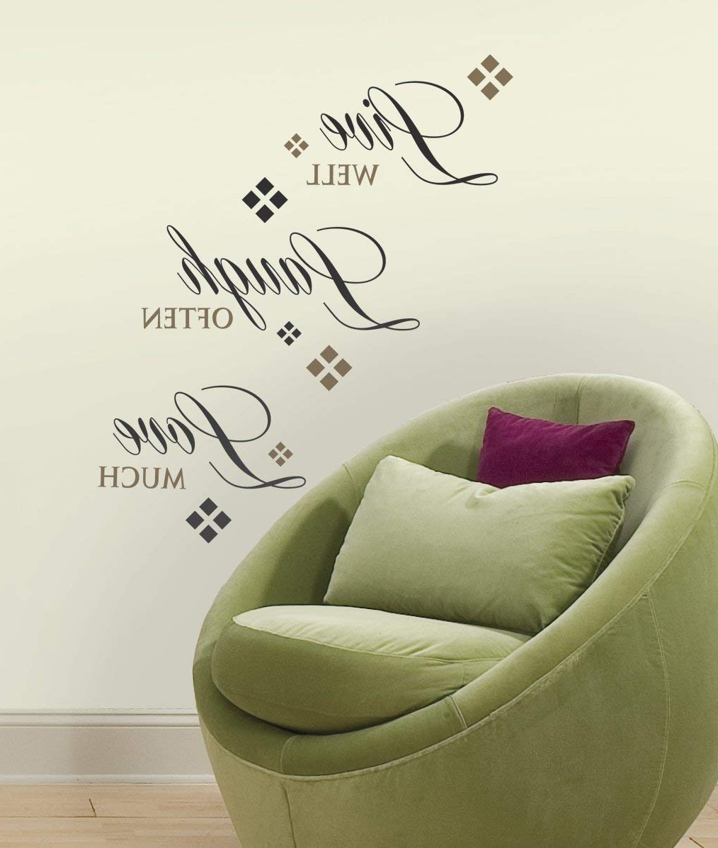 Stick On Wall Art With Preferred Roommates Rmk1396Scs Live, Love, Laugh Peel & Stick Wall Decals,  (View 15 of 20)