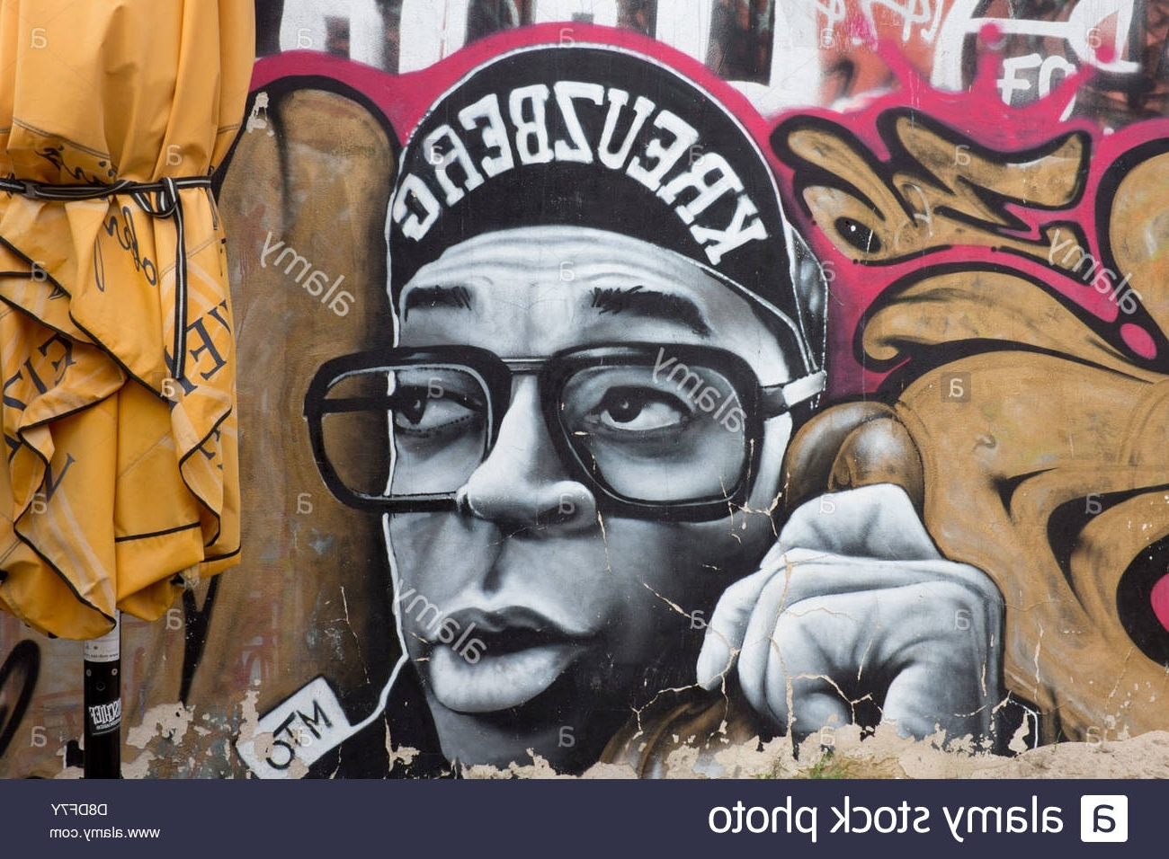 Street Art Graffiti On Wall In Kreuzberg Hip Hop Style Male For Well Known Hip Hop Wall Art (View 15 of 15)