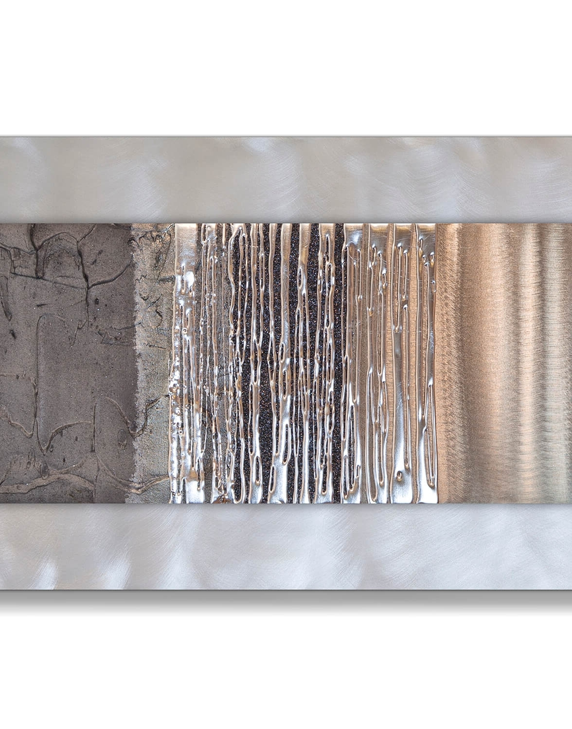 Studio Eglomise For Silver Metal Wall Art (View 17 of 20)