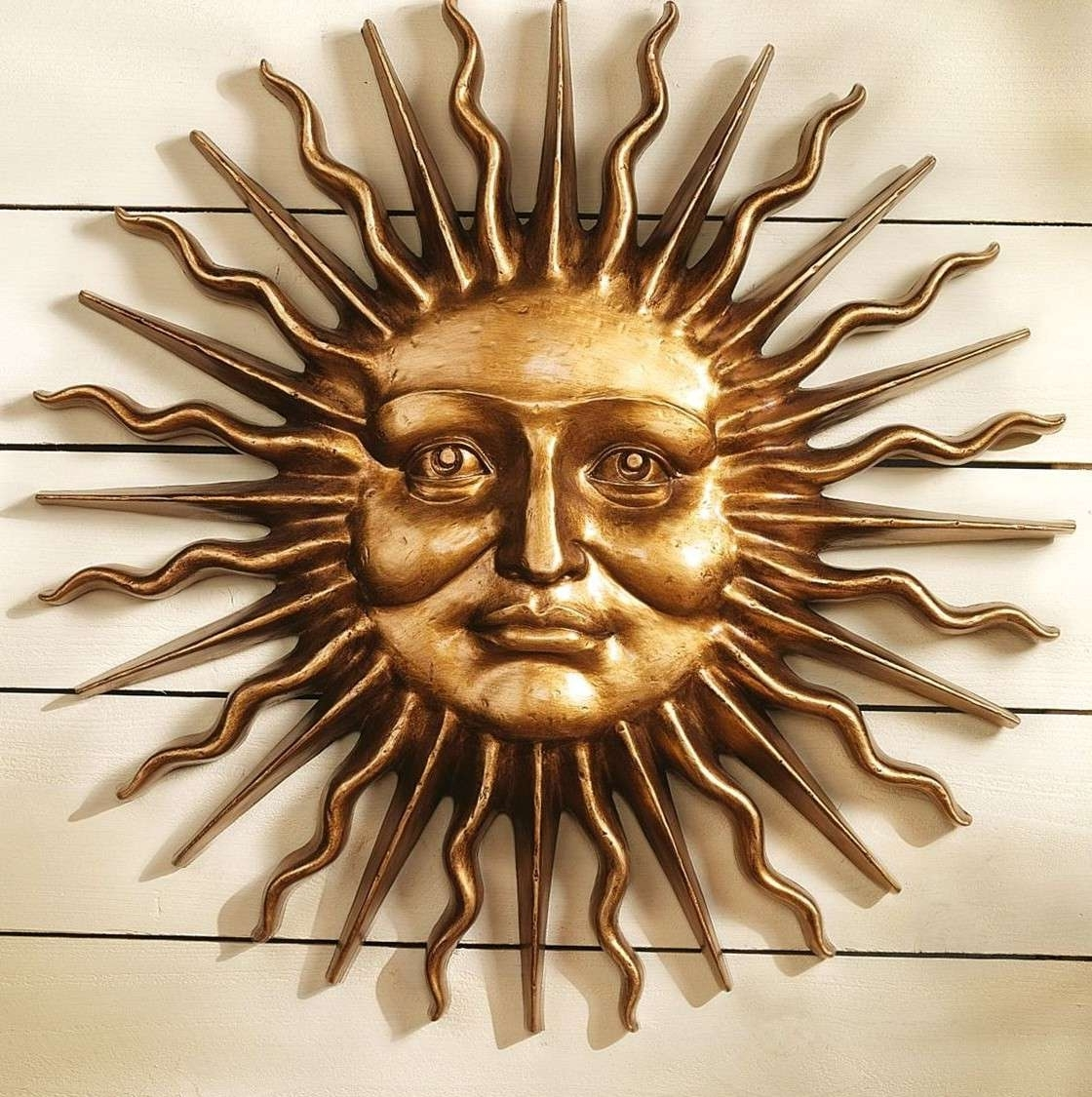Sun Wall Hanging Outdoor Moon Decor Copper Metal Art – Awesome Home Intended For 2017 Outdoor Sun Wall Art (View 13 of 15)