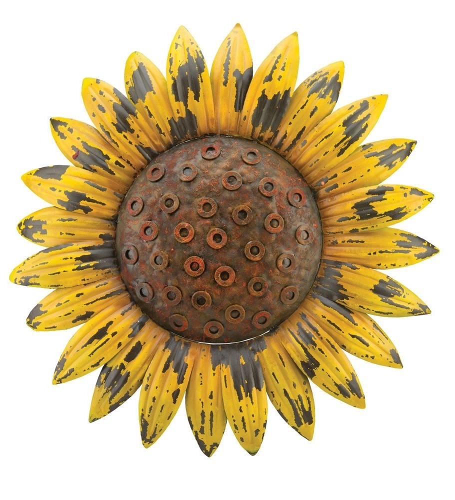 Sunflower Giant Rustic Flower Wall Art Metal Garden Rustic Chic Throughout 2018 Sunflower Wall Art (View 9 of 20)