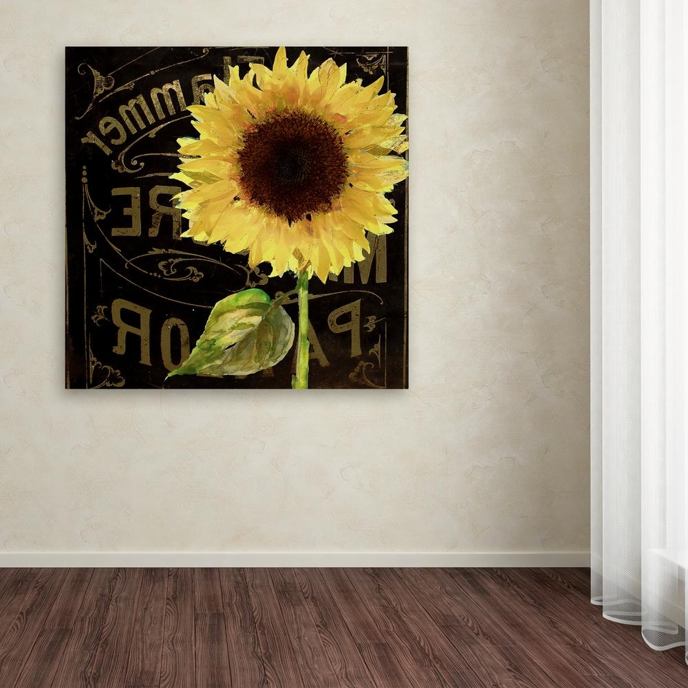 Sunflower Wall Art For Widely Used Trademark Fine Art 35 In. X 35 In (View 10 of 20)