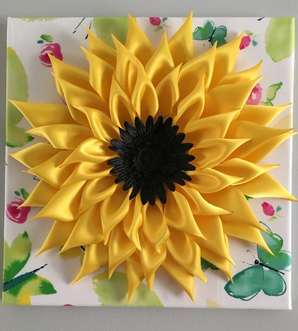 Sunflower Wall Art Intended For Most Recently Released Sunflower Wall Art Popular Sunflower Wall Art – Wall Decoration Ideas (View 13 of 20)