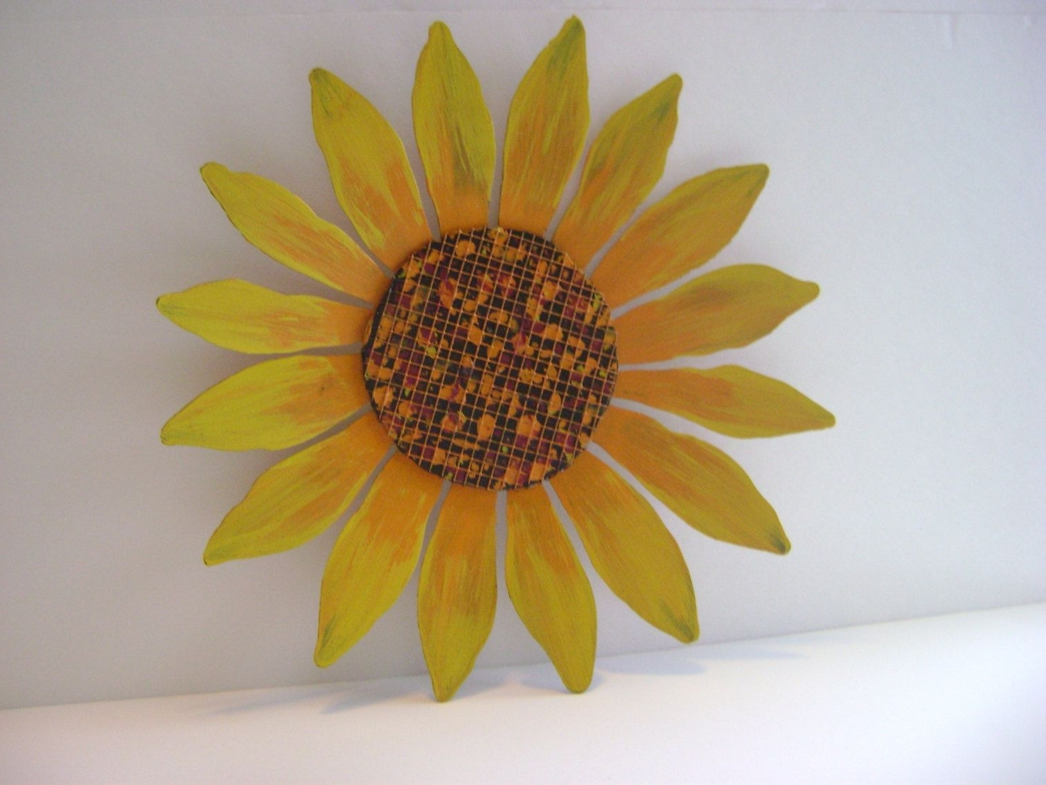 Sunflower Wall Art Pertaining To Best And Newest Yellow / Orange Sunflower Wall Art, Sculptured Metal Garden Art (View 14 of 20)