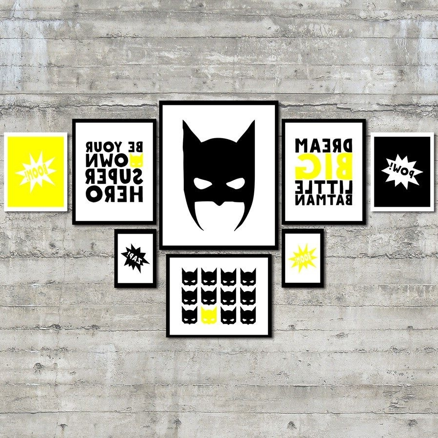 Superhero Wall Art Pertaining To Fashionable Superhero Wall Art Prints  Be Your Own Superhero Gallery Wall Art (Gallery 11 of 20)