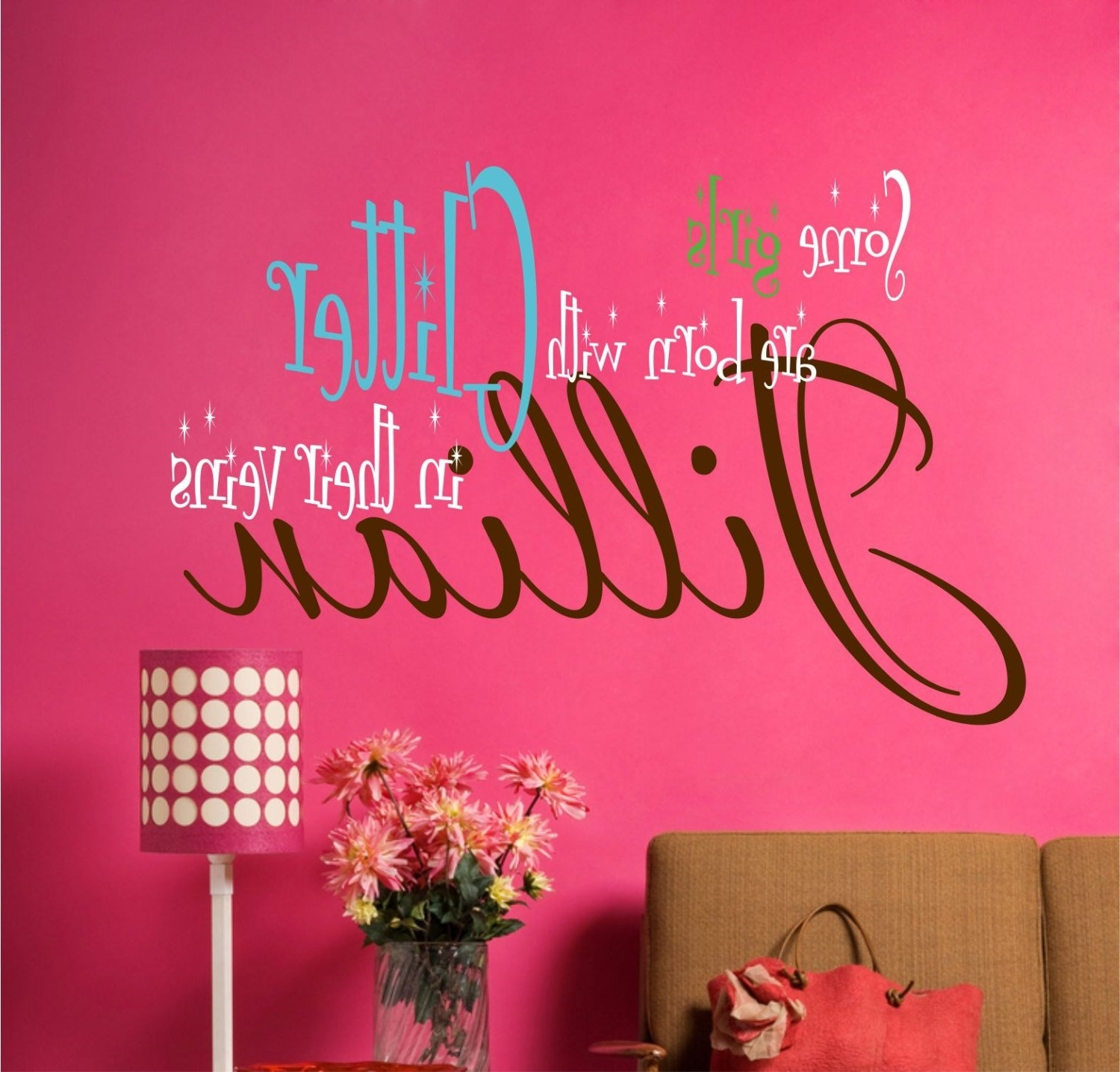 Teen Wall Art With Regard To Well Known Teen Room Decor, Custom Name Decal, Wall Decals, Vinyl Decal, Dorm (View 6 of 20)