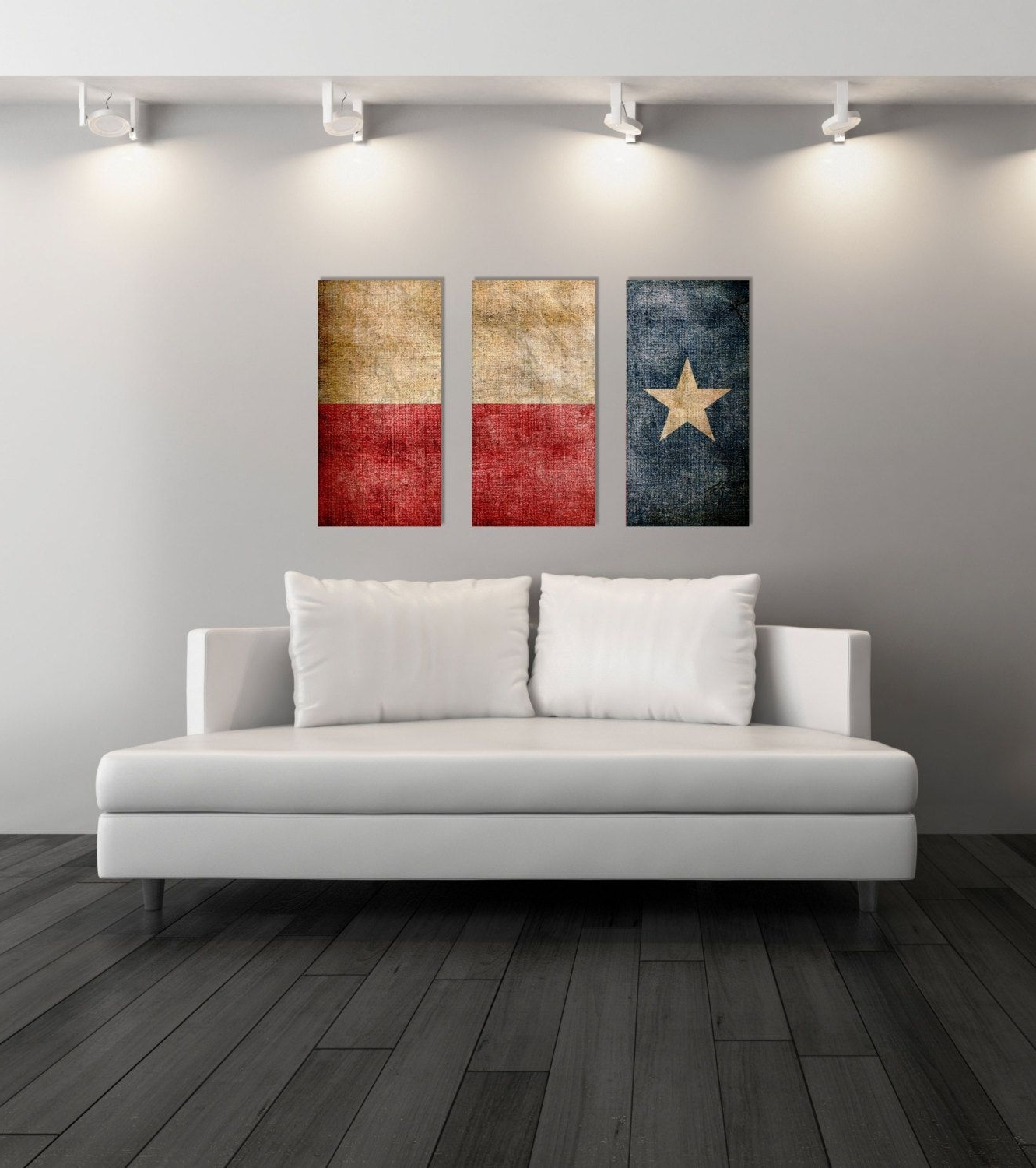 Texas Wall Art Pertaining To Well Known Triptych Vintage Texas Flag, Panel Canvas Art, Vintage Texas, Wall (View 8 of 20)