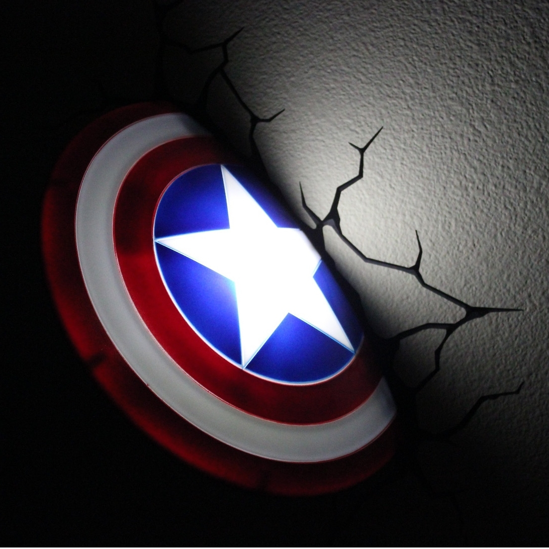 The Avengers 3d Wall Nightlight – Captain America (View 6 of 15)