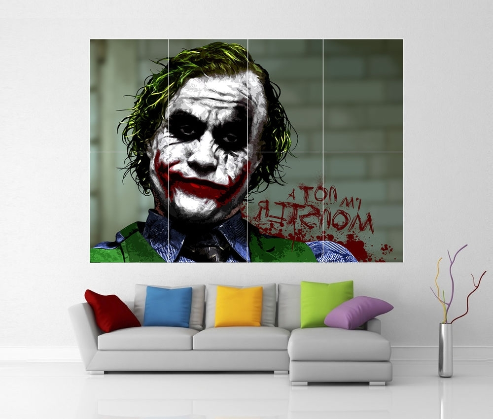 The Dark Knight Joker Batman Giant Wall Art Picture Print Poster G33 Within Famous Joker Wall Art (View 19 of 20)
