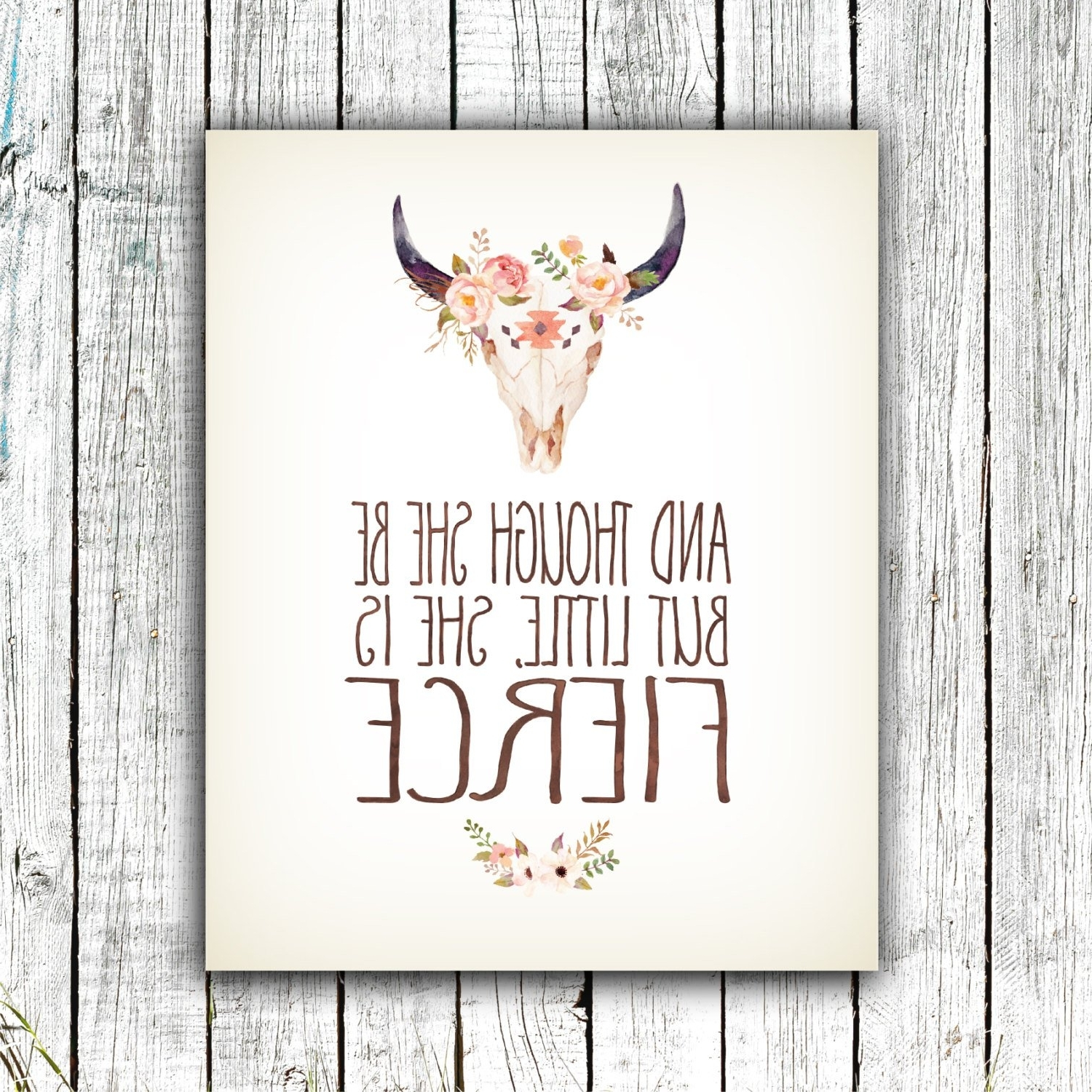 Though She Be But Little She Is Fierce Wall Art Throughout Most Up To Date Nursery Art Printable, And Though She Be But Little She Is Fierce (Gallery 13 of 20)