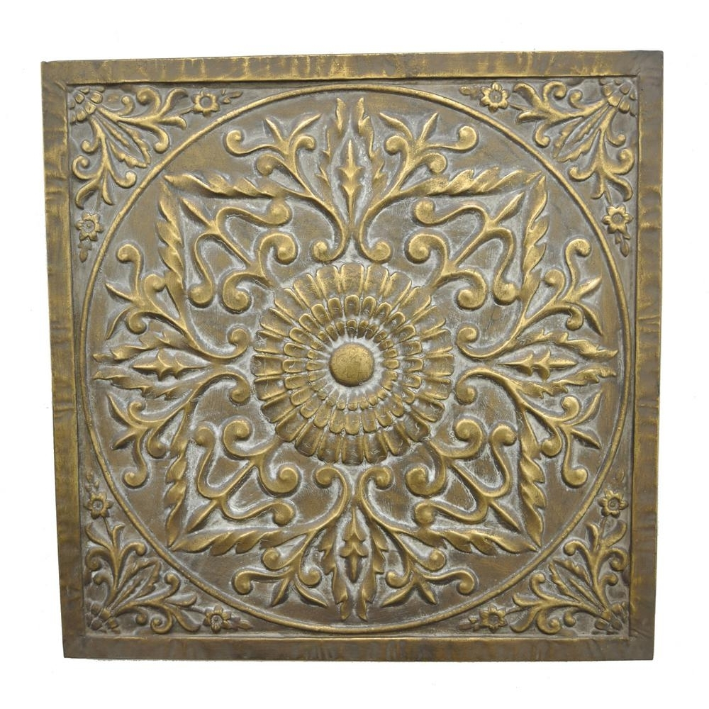 Three Hands Square Medallion Wall Art 57521 – The Home Depot With Regard To Widely Used Medallion Wall Art (View 3 of 20)