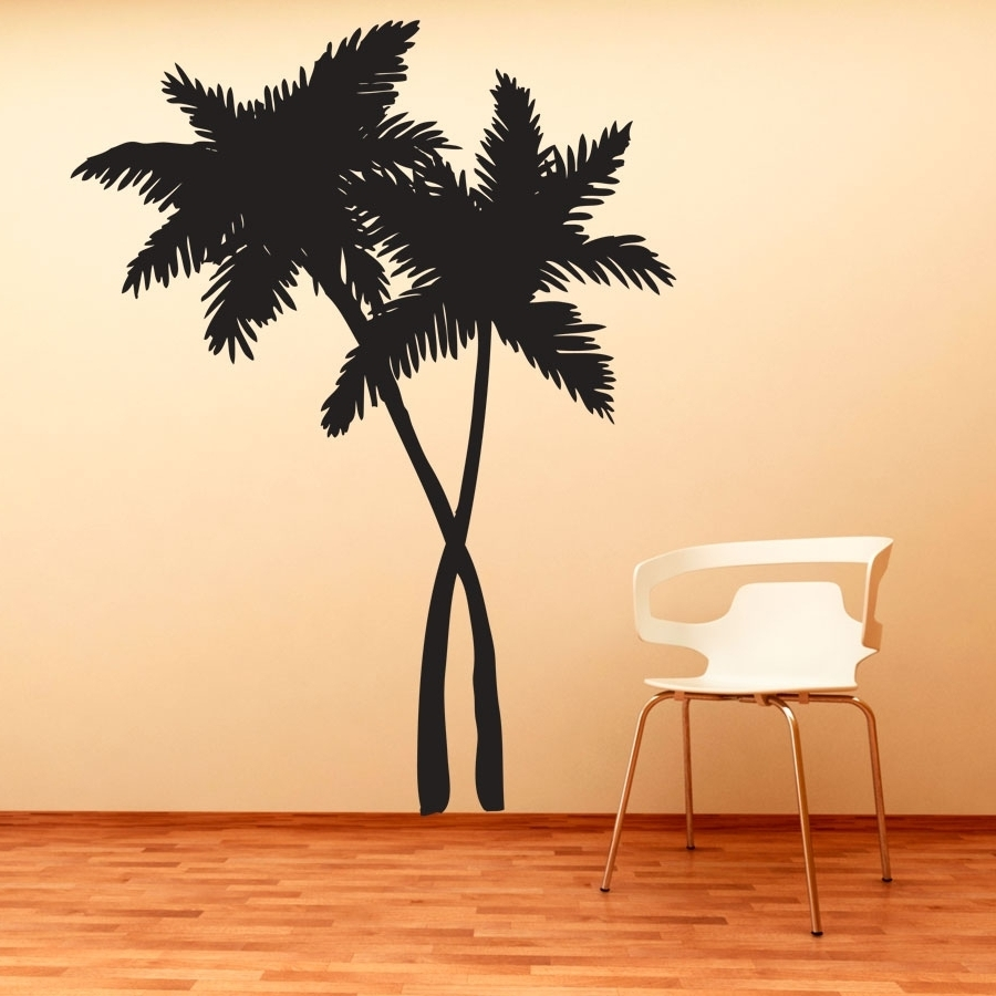 Tile Stickers Ideas With Regard To Most Recently Released Palm Tree Wall Art (View 18 of 20)