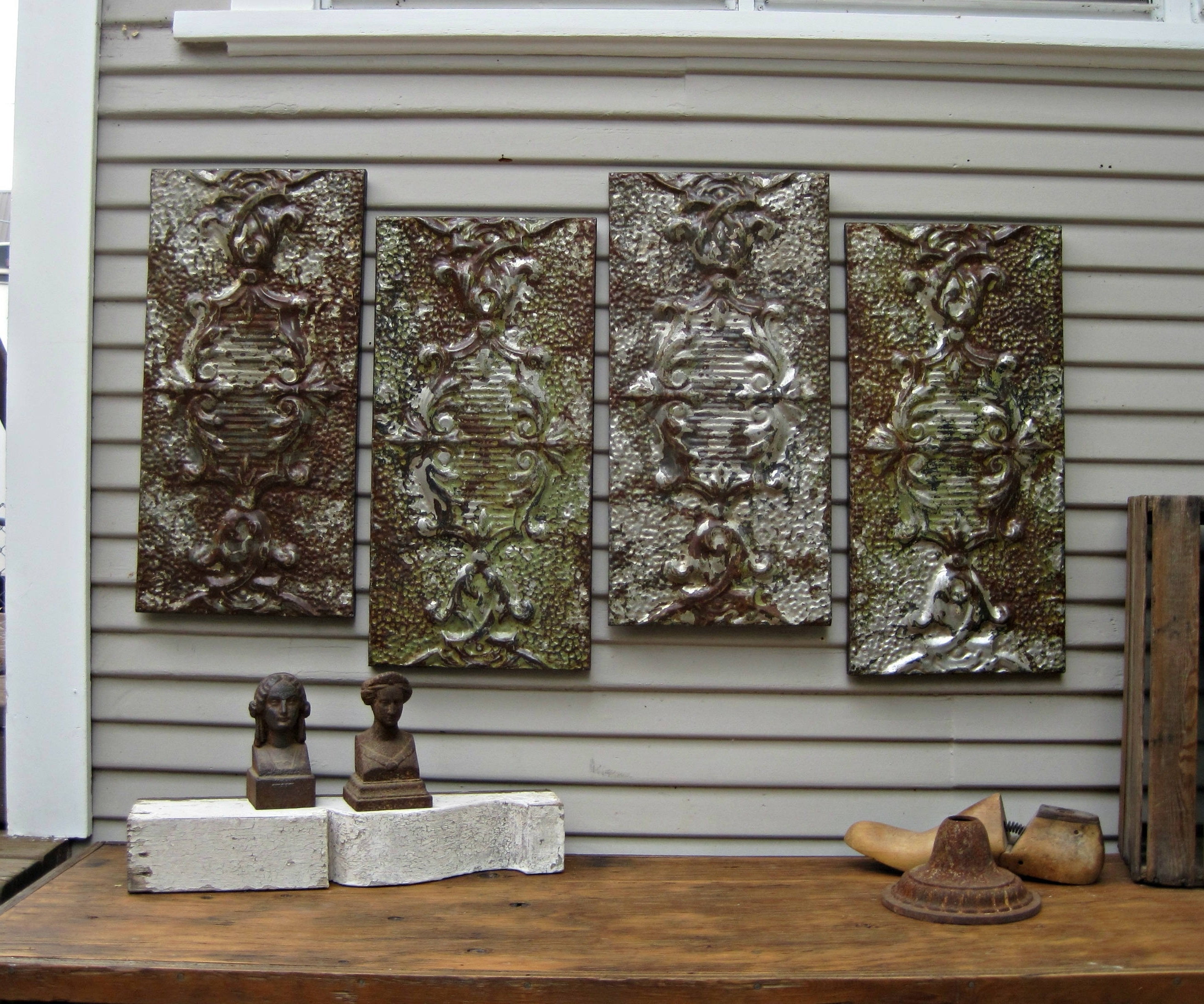 Tin Wall Art Intended For Most Recently Released Stylish And Peaceful Tin Wall Art Faux Panel Diy Jones Sweet Homes (View 10 of 20)