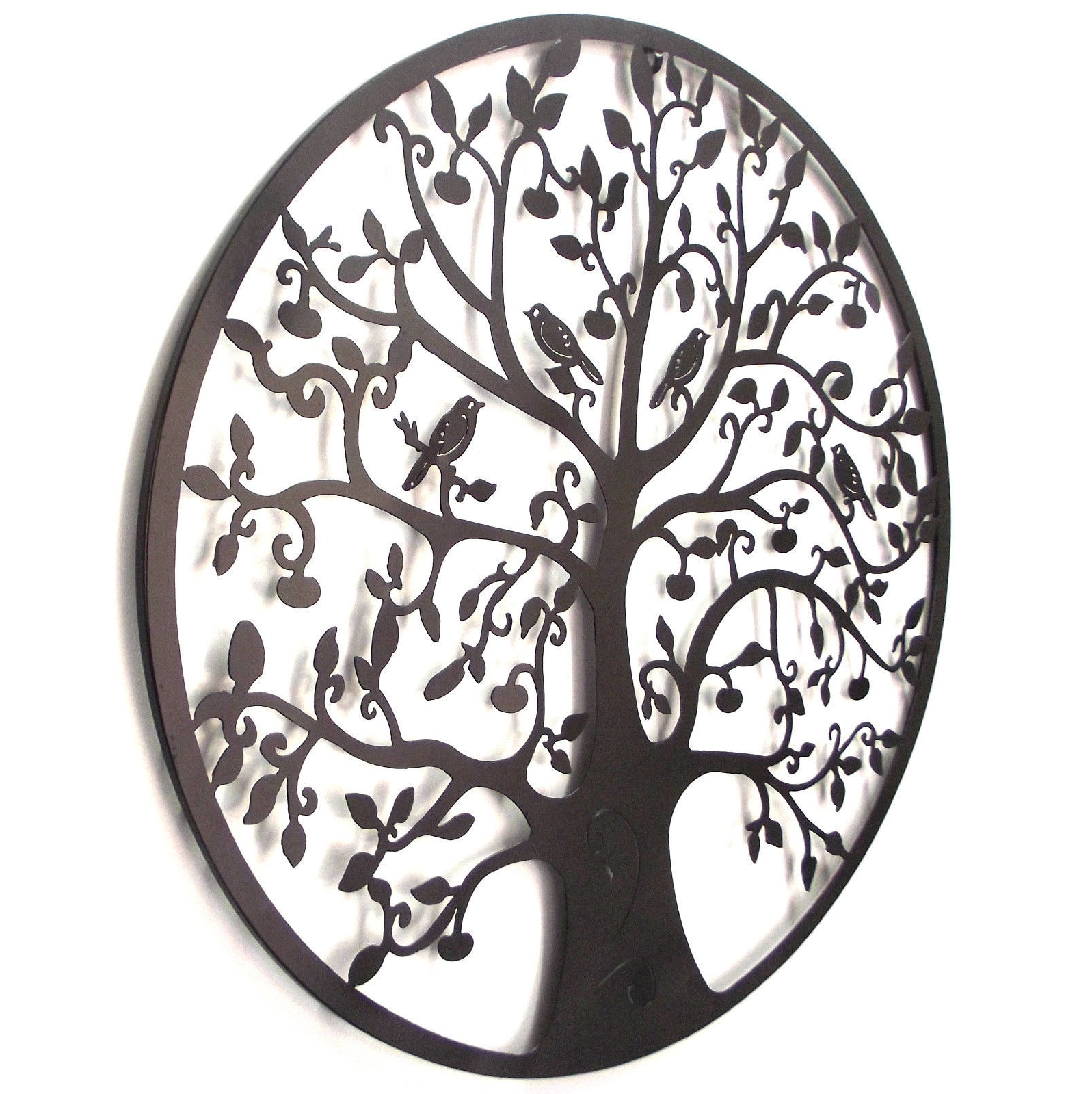 Tree Of Life Metal Wall Art For Most Recent Black Tree Of Life Wall Art Hanging Metal Iron Sculpture Garden Big (View 13 of 20)