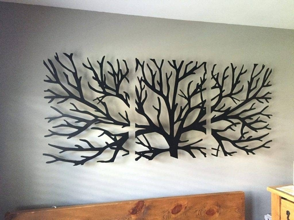 Tree Of Life Metal Wall Art With Current Wall Arts Metal Wall Art Trees And Branches Wall Art Headboard (View 11 of 20)