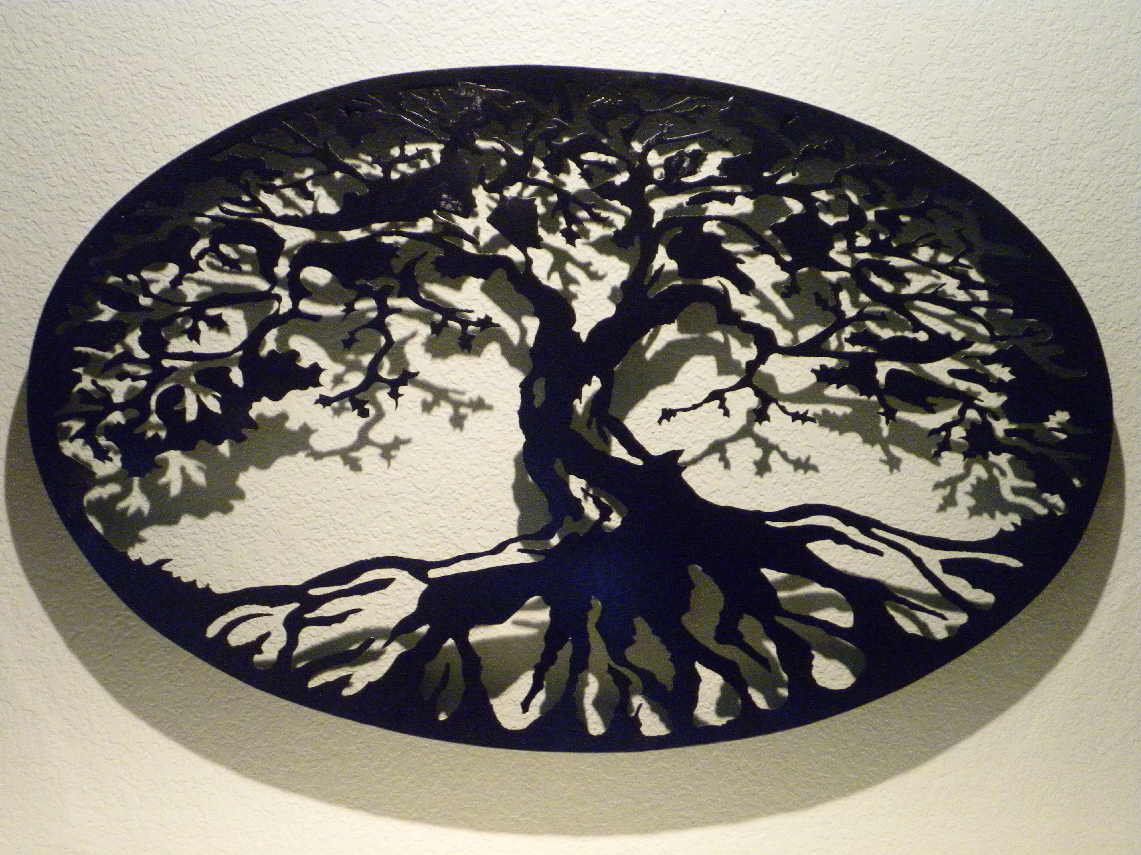 Tree Of Life Wall Art In Well Known Buy A Custom Oval Tree Of Life Metal Wall Art, Made To Order From (View 7 of 15)