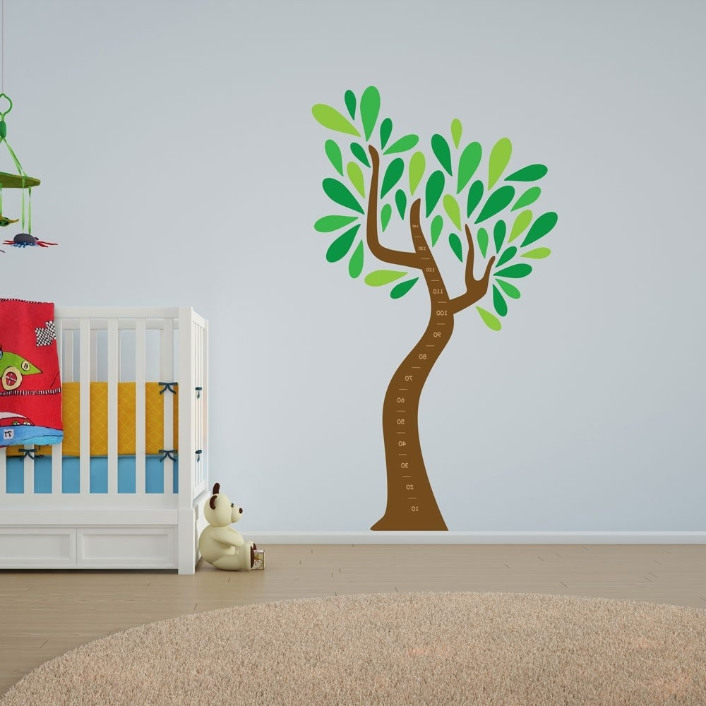 Tree Wall Art Within Widely Used Child's Growth Chart Tree Vinyl Wall Art (View 11 of 15)