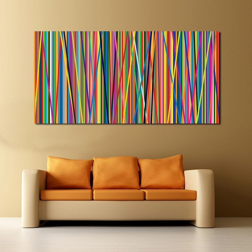Trendy 2018 Abstract Line Oil Painting Wall Art Canvas Decorative Living With Regard To Living Room Painting Wall Art (Gallery 18 of 20)